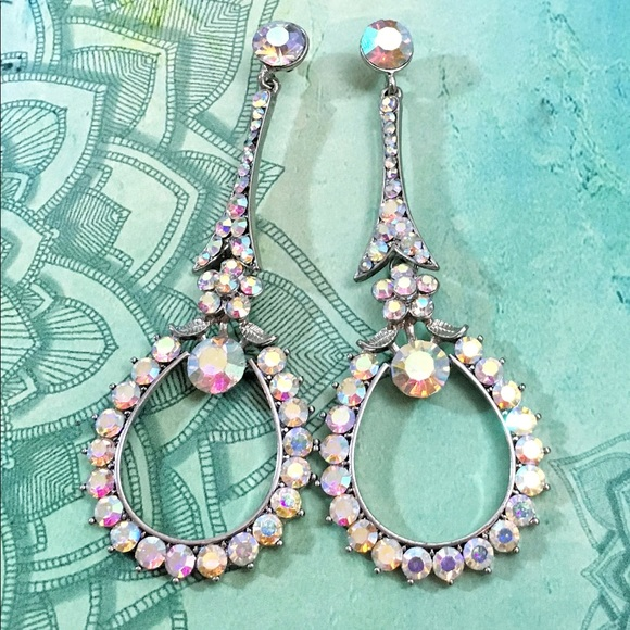 Jim Ball Jewelry - Swarovski AB Crystal Event Occasion Earrings